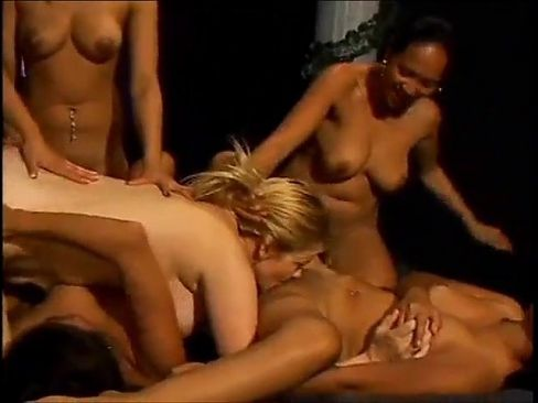 Naked mature wife gangbanged by Asian girls