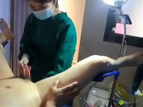 China Mistress in Surgical Uniform Anal Experiment