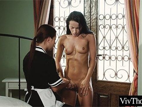 Asian maid has lesbian sex with her boss